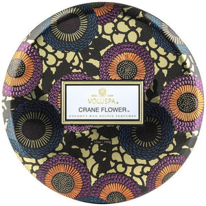 Crane Flower 3-Wick Tin Candle