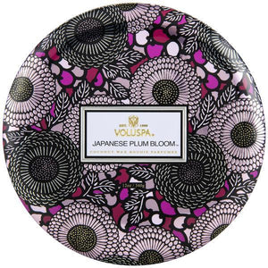 Japanese Plum Bloom 3-Wick Tin Candle