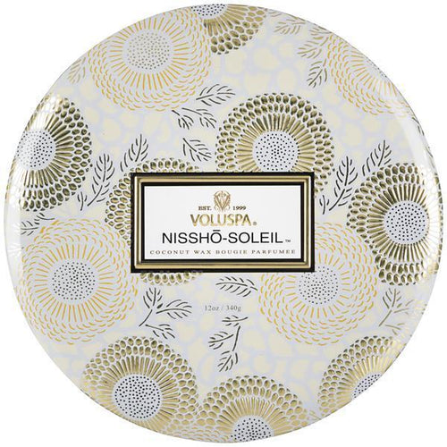 Nissho-Soleil 3-Wick Tin Candle