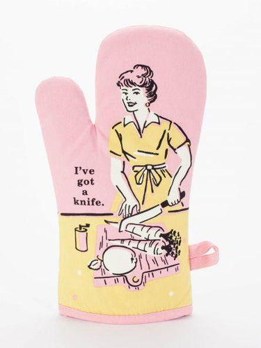 I've Got a Knife Oven Mitt
