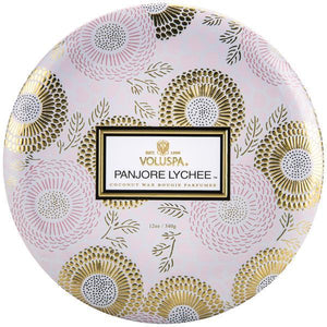 Panjore Lychee 3-Wick Tin Candle