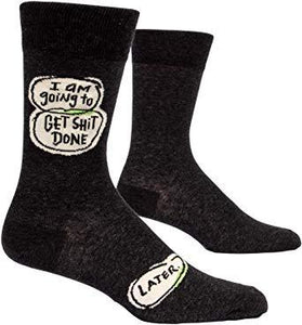 I Am Going To Get Shit Done Men's Crew Socks
