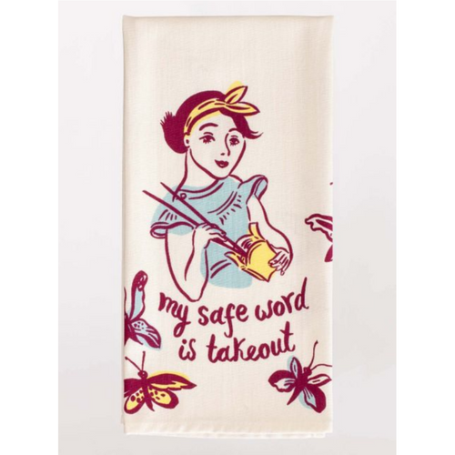 Blue Q Dish Towel My Safe Word is Takeout