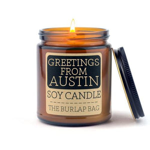 Greetings From Austin Candle