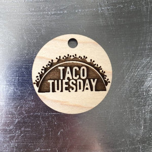 Calloway Studios Engraved Maple Wood Taco Tuesday Keychain