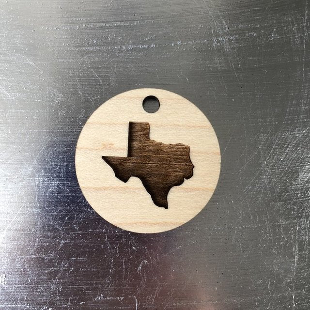 Calloway Studios Engraved Maple Wood State Of Texas Keychain