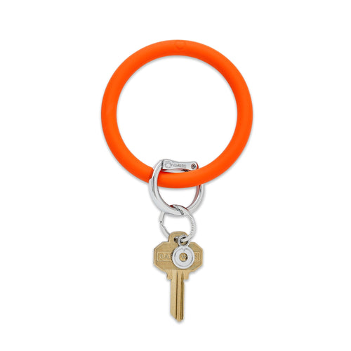 Solid Silicone Big O Key Ring