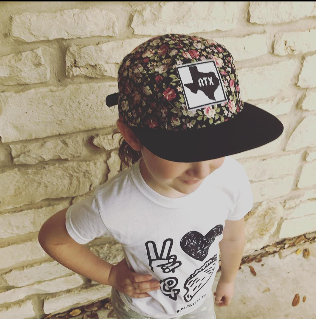 Floral ATX patch kid's hat