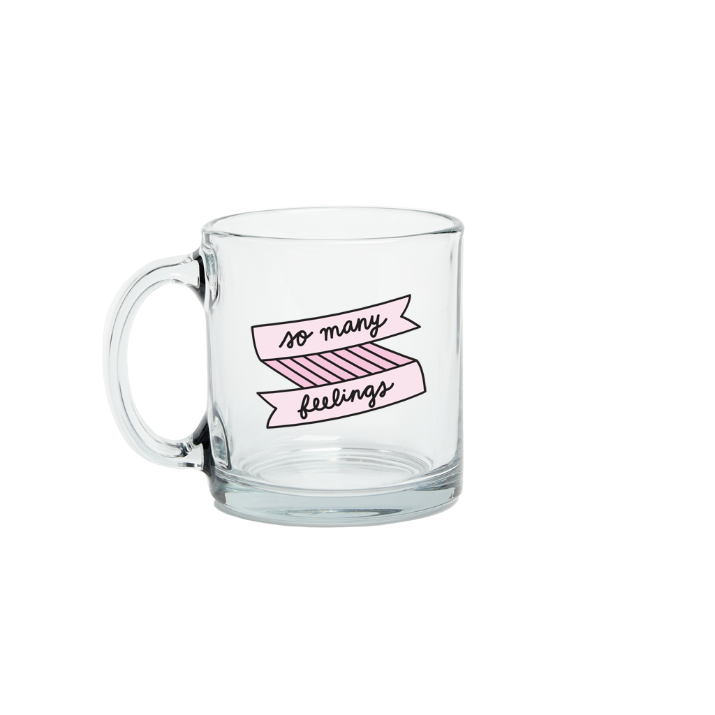So Many Feelings Glass Mug