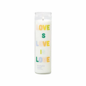 Spark Candle - Love is Love Prayer Candle - Eucalyptus Santal