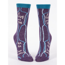 Load image into Gallery viewer, I Love My Job, Ha Ha, Just Kidding Women's Crew Socks