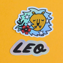 Load image into Gallery viewer, Holographic Zodiac Sign Die Cut Sticker Set