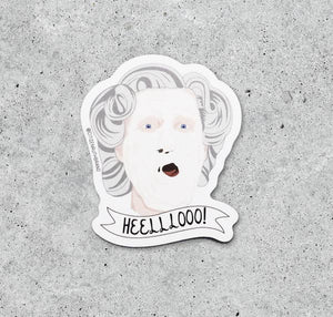 Mrs. Doubtfire Helllooo Sticker