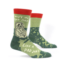Load image into Gallery viewer, Ain't No Bad Joke Like A Dad Joke Men's Crew Socks