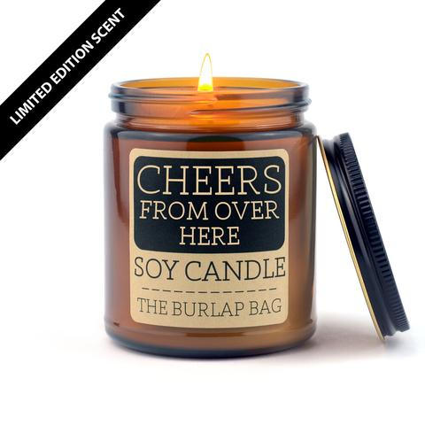 Cheers From Over Here Candle