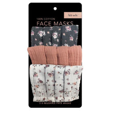 Load image into Gallery viewer, Vintage Floral Cotton Face Mask Set