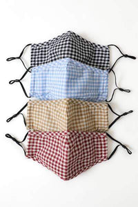 Reusable Fabric Checkered Face Mask