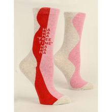 Load image into Gallery viewer, Hahaha Free Time Women's Crew Socks