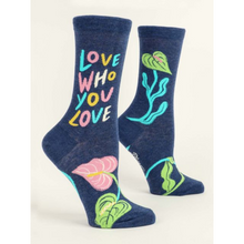 Load image into Gallery viewer, Love Who You Love Women's Crew Socks