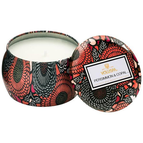 Persimmon & Copal Small Tin Candle