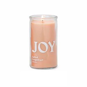 "Paddywax Spark Candle - ""JOY"" Prayer Candle - Salted Grapefruit"