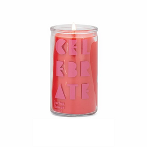 "Paddywax Spark Candle - ""CELEBRATE"" Prayer Candle - Cactus Flower"