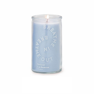 "Paddywax Spark Candle - ""BREATHE IN, BREATHE OUT"" Prayer Candle - Vetiver Cardamom"