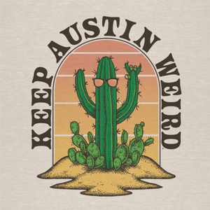 Keep Austin Weird Cactus T Shirt