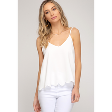 Load image into Gallery viewer, Cami Tank with  Scalloped Hem