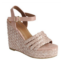 Load image into Gallery viewer, Grass-3 Platform Espadrille Wedge Sandal
