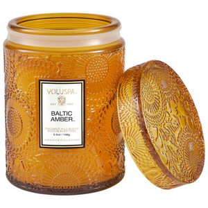 Baltic Amber Small Glass Jar Candle