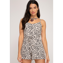 Load image into Gallery viewer, Leopard Print Cami Romper