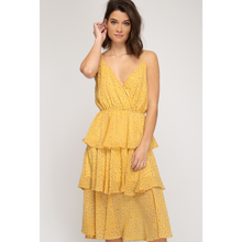 Load image into Gallery viewer, Midi Cami Dress with Tiered Skirt