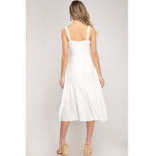 Load image into Gallery viewer, Midi Dress With Ruffle Trim