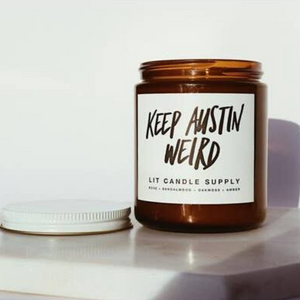 Keep Austin Weird Candle