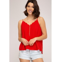 Load image into Gallery viewer, Scalloped Neck Cami