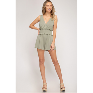 Sleeveless  Cupro Romper