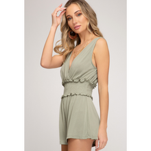 Load image into Gallery viewer, Sleeveless  Cupro Romper