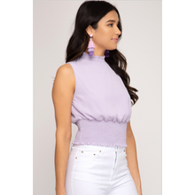 Load image into Gallery viewer, Smocked Mock Neck Top