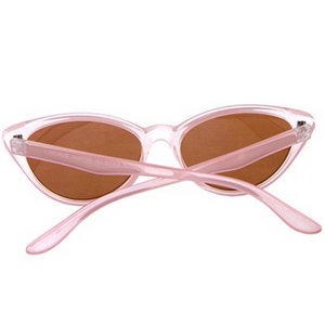 Clear Pink Cat Eye Sunglasses
