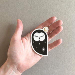 Cosmic Owl Vinyl Sticker