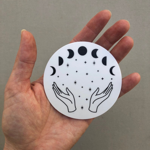 Moon Witch Moon Phases Vinyl Sticker