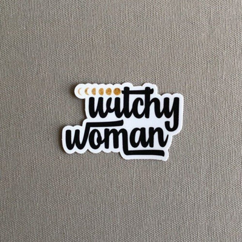 Witchy Woman Moon Phases Vinyl Sticker