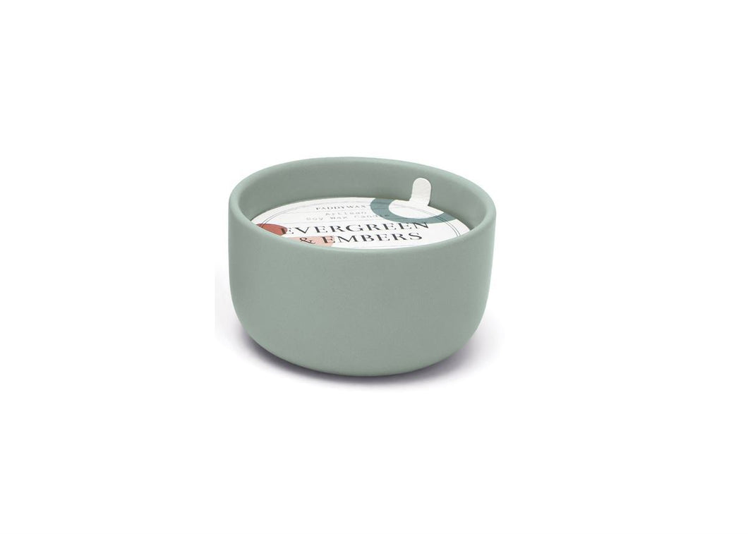 Paddywax Evergreen & Embers candle