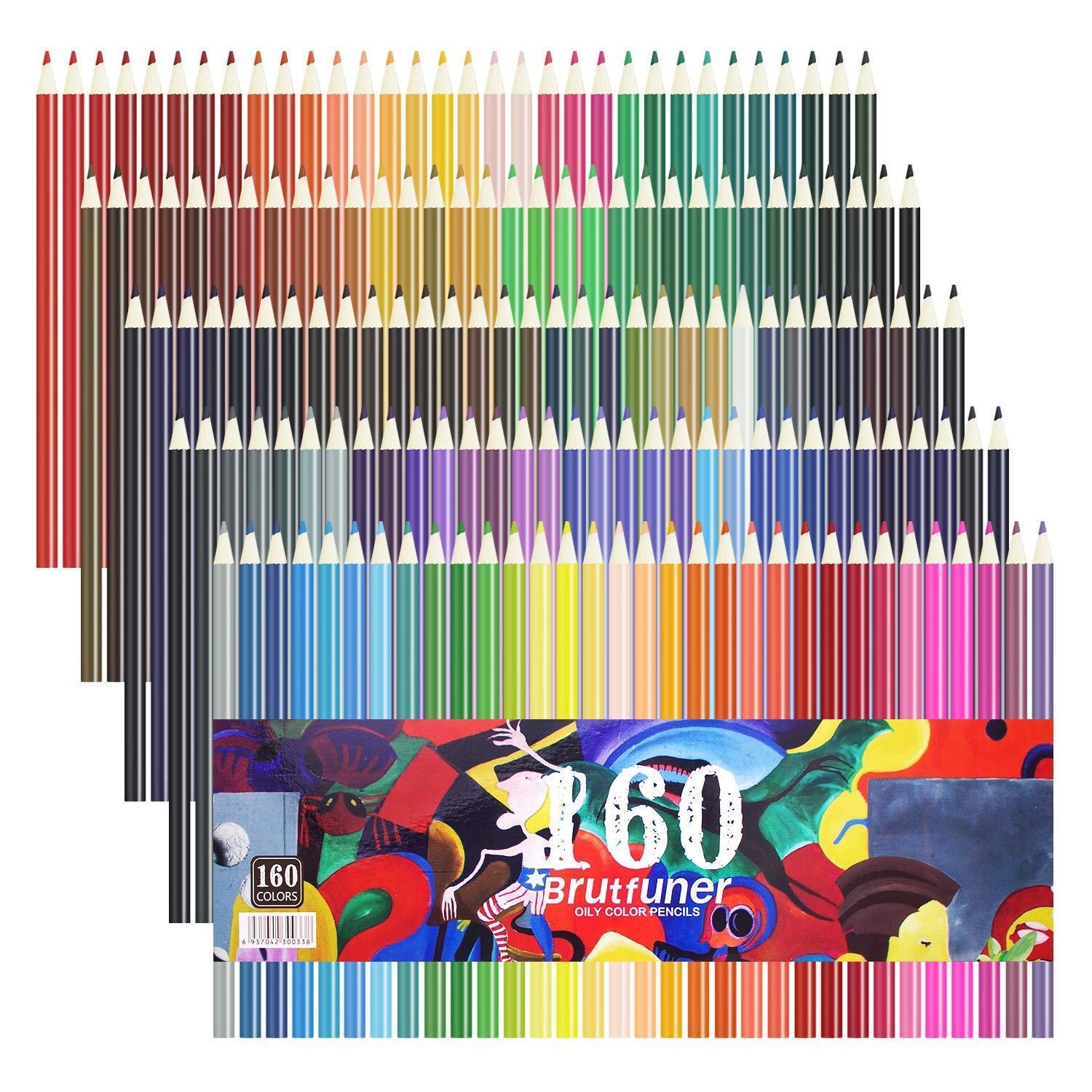 160 Colors Pencils Kit For Kids//Adult Coloring Drawing Art Sketching School New