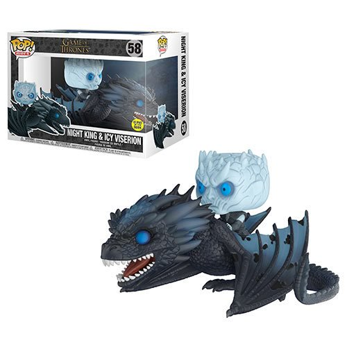 Game of Thrones Viserion Pop! Vinyl Ridez with Night King Figure