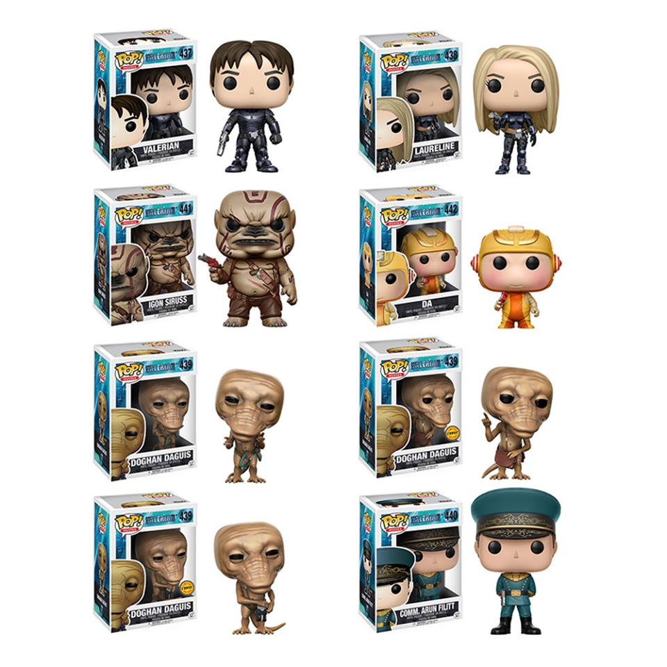 Valerian Pop! Vinyl Figures Set of 8 with Chases