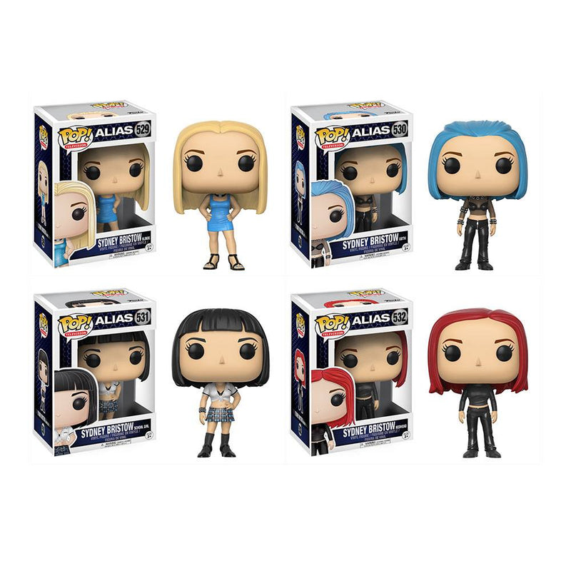 Preorder July 2017 Alias Sydney Bristow Pop! Vinyl Figures Set of 4