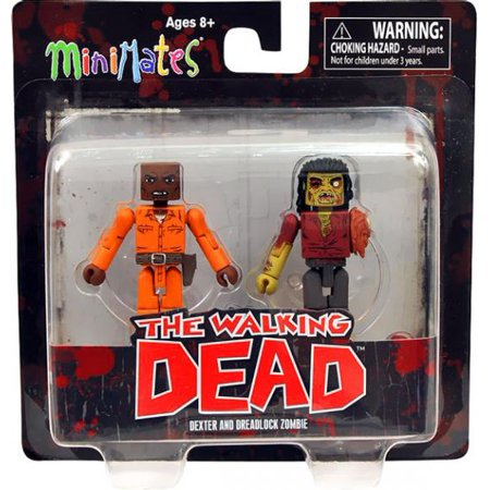 Walking Dead Minimate Series 3 Dexter and Dreadlock Zombie