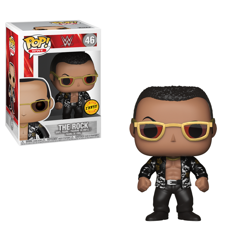 Preorder   WWE The Rock Old School Chase Pop! Vinyl Figure #46